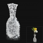 Creative Irregular Geometry Figure PVC Folding Vase - White + Transparent (Size L)