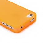 Thick Protective Hard Plastic Case for Iphone 4S - Orange