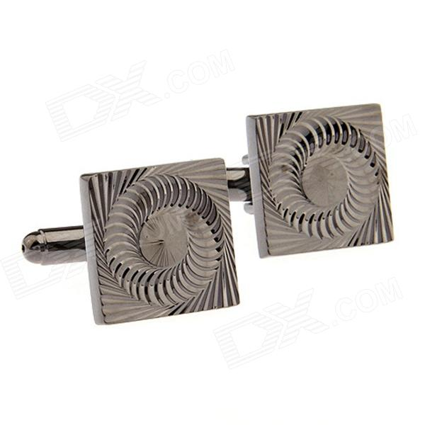 Brass Rotating Geometry Cufflinks - Brown (Pair)