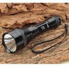 UltraFire SH-N8 900lm 3-Mode White Flashlight - Black (1 x 18650)