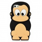 3D Cartoon Monkey Style Protective Silicone Case for Iphone 5 - Black + Light Yellow