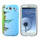 Statue of Liberty Style Protective Plastic Back Case for Samsung Galaxy S3 i9300 - Light Blue