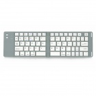 Foldable Wireless Bluetooth V3.0 66-Key Keyboard for Ipad Windows / Android tablet PC - Silver