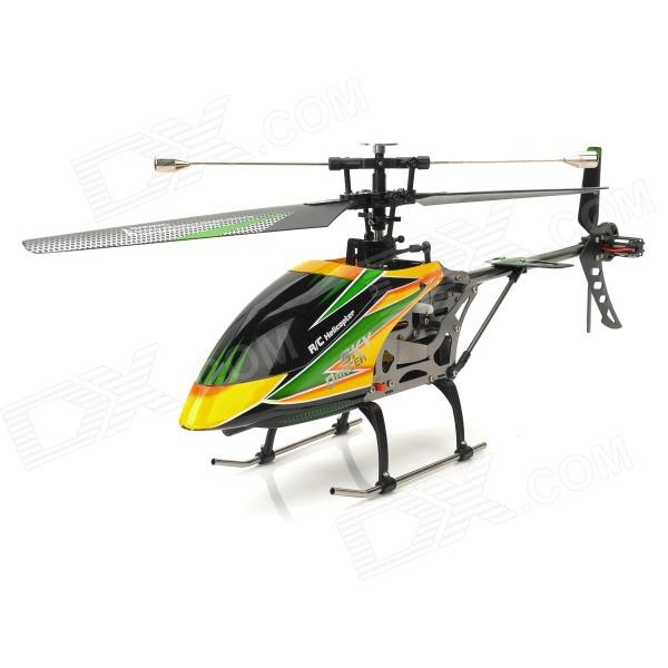 WLtoys V912 Rechargeable 2.4GHz Single Blade 4-CH R/C Helicopter w/ 2.7 LCD Remote Control - Black wltoys wl r4 2 9 lcd 6 axis multi function remote controller for r c toy black 4 x aa