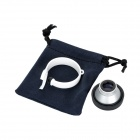 Detachable Wide Angle Fish Eye Lens + Macro Lens for Cellphone + Camera - Black + Silver