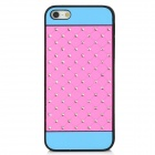 Protective CrystalPlastic Back Case for iPhone 5 - Pink + Blue