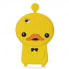 3D Cartoon Duck Style Cute Protective Silicone Case for Iphone 4 / 4S - Yellow