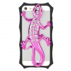 Cool Gecko Style Protective Bumper Frame for iPhone 5 - Black + Deep Pink + Purple