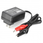 HB-1380-01 US Plug Charger for Lead-Acid Battery - Black + Red (AC 100~240V)