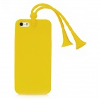 Glow-in-the-Dark Grasshopper Style Protective Case w/ Suction Cup Antennas for Iphone 5 - Yellow