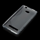 """S"" Style Protective TPU Back Case for HTC 8S - Translucent Grey"