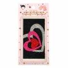 Universal Love Hearts Style CrystalDecorative Back Skin Sticker for Cell Phone - Black
