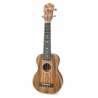 "Adeline Handheld 21"" 4-String Ukulele Guitar w/ Bag - Brown + Wood Color"