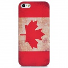 Retro Style Protective Canada Flag Pattern Back Case for Iphone 5 - Red + White