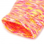 Stylish Capacitive Screen Touch Touching Hand Warmer Gloves - Orange + Deep Pink + Grey (Pair)