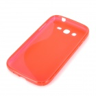 """S"" Style Protective TPU Back Case for Samsung i9082 - Red"