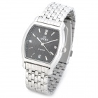 EYKI EETS8582AG Men's Stainless Steel Quartz Analog Wrist Watch w/ Calendar - Black + Silver