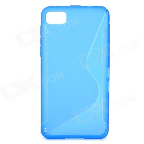 S Style Protective Back Case for BlackBerry Z10 - Translucent Blue проектор sony vpl hw65es white