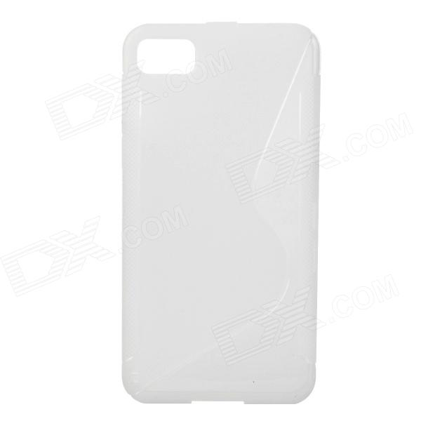 S Style Protective Back Case for BlackBerry Z10 - Translucent White protective silicone case for nds lite translucent white