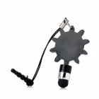 Gear Stylus Pen w/ 3.5mm Earphone Dust-proof Plug - Black