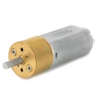 MN1672 16mm 6V 40RPM High Torque Brass Gear Motor - Silver Grey + Golden