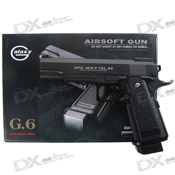 G.6 Mini 6mm Caliber Aluminum Alloy Airsoft Pistol BB Gun Toy