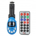 "LSON 1.0"" LCD Car FM Transmitter MP3 Player w/ Infrared Remote Controller / SD - Blue"