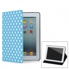 Polka Dot Style Protective PU Leather Case for Ipad 2 / The New Ipad / Ipad 4 - Blue + White