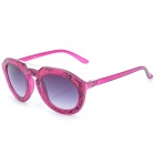 SENLAN 6236 Retro UV400 Protection Stylish PC Lens Sunglasses - Purple