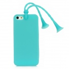 Glow-in-the-Dark Grasshopper Style Protective Back Case w/ Suction Cup Antennas for iPhone 5 - Blue