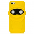 Unique Ninja Style Protective Plastic Back Case for Iphone 5 - Yellow + Black