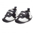 Fashion PU Leather Shoes for 3-6 Months Male Baby - Deep Brown + White