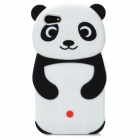 3D Panda Style Protective Silicone Case for IPHONE 5 - White + Black + Red