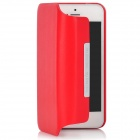 Stylish Protective 360 Degree Rotating PU Leather Case for Iphone 5 - Red