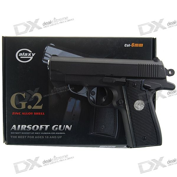 G.2 Mini 6mm Caliber Aluminum Alloy Airsoft Pistol BB Gun Toy