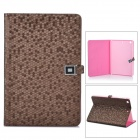 LXM88 Ultra-Thin Diamond Pattern Protective PU Leather Case for Ipad MINI - Brown