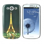 Night View of Eiffel Tower Style Protective Plastic Case for Samsung Galaxy S3 i9300 - Dark Green