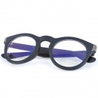 SENLAN M6270 Stylish PSY Style Anti-Radiation Resin Glasses - Black + Transparent