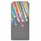 IPM588 Stars Pattern Protective Flip-Open PU Leather Case for iPhone 5 - Multicolor