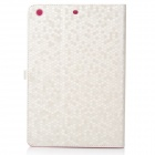 LXM88 Ultra-Thin Diamond Pattern Protective PU Leather Case for Ipad MINI - White