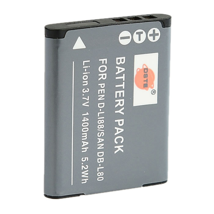 DSTE DB-L80/LI88 3.7V 1400mAh Replacement Battery for Pentax Optio H90 / P70, Sanyo Xacti DMX-CG10