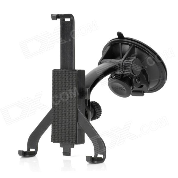 360' Rotation Suction Cup Holder Stand w/ Adjustable Bracket for Ipad / Ipad MINI + More - Black universal full rotating gooseneck mount stand for 7 tablet pc ipad mini black
