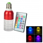 Pylon Style E27 3W 270lm 620nm 1-LED RGB light Lamp w/ Remote Controller - Red + White + Silver
