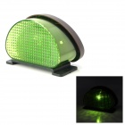 0.8W 560nm 1-LED Green Light Solar Powered Fence / Wall / Courtyard / Garden Lamp - Black + Green