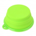 BOBO Silicone Pop-up Pet Dog Cat Travel Food Bowl Feeder - Green (350ml)