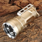 RUSTU KING 5 x Cree XM-L T6 3500lm 5-Mode White Flashlight - Light Golden (4 x 18650)
