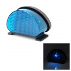 Mini 0.8W 490nm 1-LED Blue Light Solar Powered Fence / Wall / Courtyard / Garden Lamp - Black + Blue
