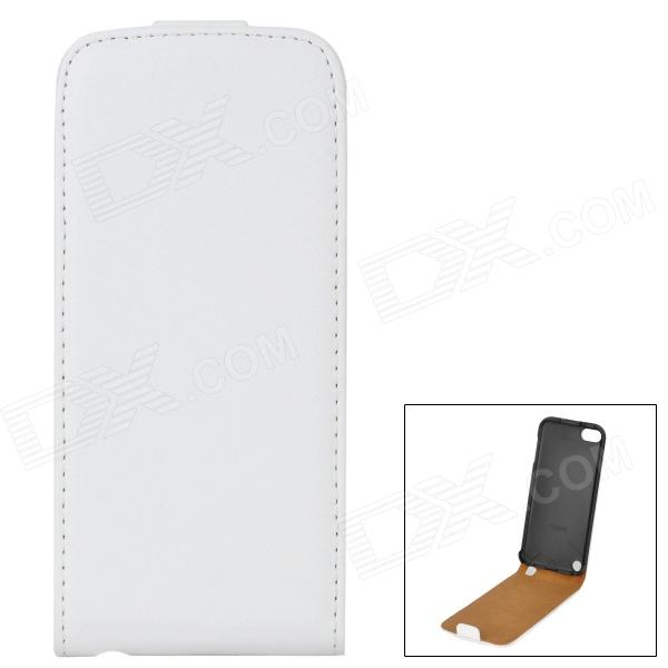Protective Flip-Open Genuine Leather Case for Ipod Touch 5 - White - DXQuantity 1 Piece Color White Material Genuine Leather Compatible Models Ipod Touch 5 Other Features Protects your Ipod from scratches dust and shock Packing List 1 x Protective case<br>
