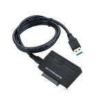 KIMAX BS-US3 2.5'' SATA Converter Adapter w/ USB 3.0 to 3.5'' SATA Adapter Cable - Black