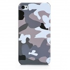 Camouflage Style Protective Plastic Back Case for Iphone 4S / Iphone 4 - Green + Grey + White